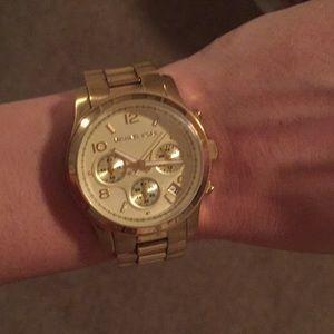 GENUINE Michael Kors gold watch (women's)